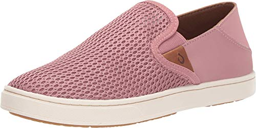 OLUKAI Women's Pehuea Slip On Shoes, Ash Rose/Ash Rose, 9.5