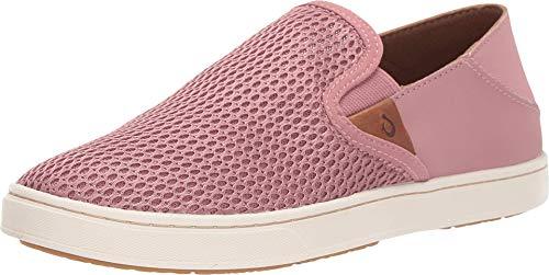OLUKAI Women's Pehuea Slip On Shoes, Ash Rose/Ash Rose, 8
