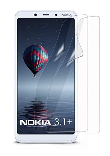 MoEx® Kristallklare HD Schutzfolie passend für Nokia 3.1 Plus   Premium Bildschirmfolie - Kratzfest & Fast unsichtbar - Ultra Klar
