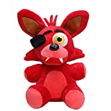 [kunnestore] 18cm Five Nights at Freddy's FNAF Golden Freddy Foxy Bonnie Chica Fazbear Stuffed Plush Toys for Kids Baby Gift Nightmare Mangle (Old Red Foxy)