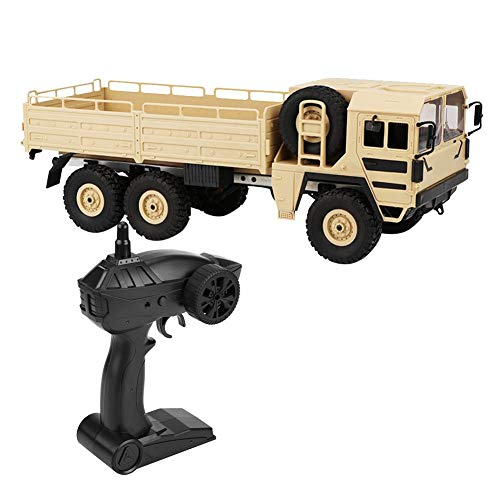 Dilwe RC LKW Auto JJRC Q64 1:16 Fernbedienung Modell LKW 6WD Simulation Transporter Spielzeugauto( Gelb)