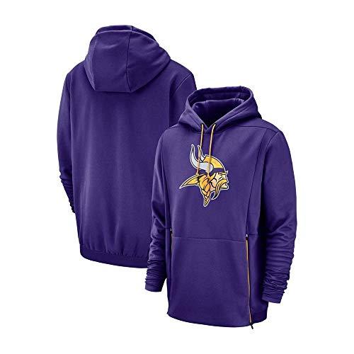 NFLSWER Amerikaanse Voetbal Hoodie Vikings Voetbal Team Voetbal Jersey Comfort Materiaal Kangoeroe Pocket Fan Kostuum Casual Kleding Geschenken Jersey