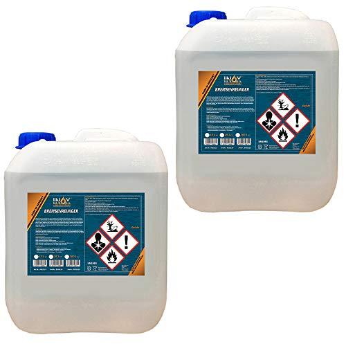 INOX® Bremsenreiniger, acetonfreier Bremsscheibenreiniger für KFZ - 2 x 10 Liter