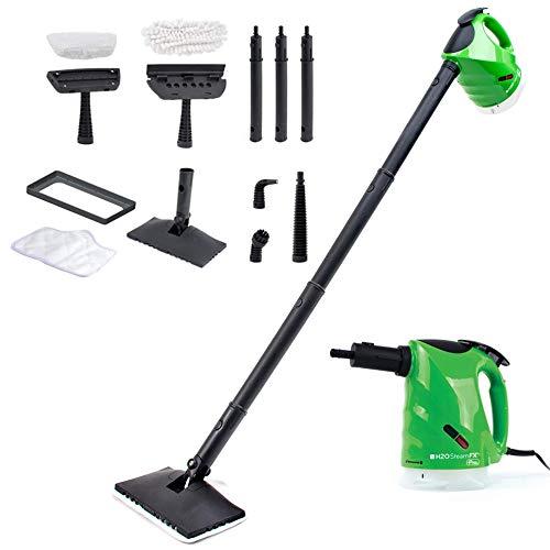 H2O STEAM FX PRO - Handheld Steam Cleaner, Sanitiser & Deodoriser - 1300w (Green)