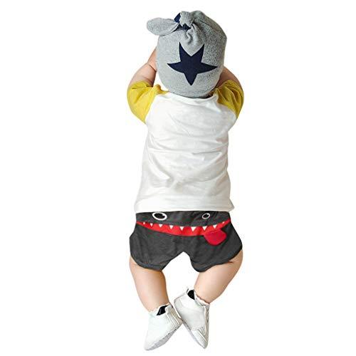 TinaDeer Kinderhose für Jungen und Mädchen, kurze Babyhose, Cartoon Muster Neuheit Jogginghose, Kleinkind Sommerhose Jogginghose Cartoon Long Hip Hop Harlan Hose (Grau, 80)