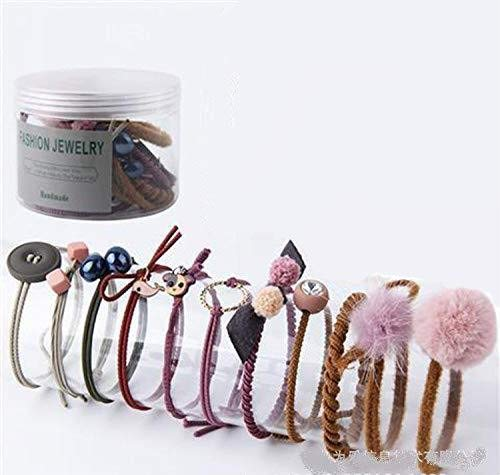 YuYue 10Pcs Hair Accessories Korean Elastic Rope Hair Tie Ponytail Holder (Mixed Color)