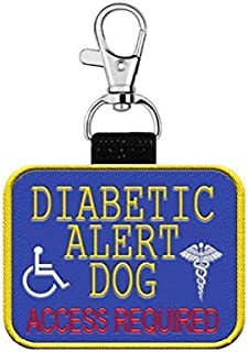 """WORKINGSERVICEDOG.COM """"Diabetic Alert Dog"""" Clip on Identification Hanging Patch Tag – Clips onto a Service Dog Vest, Harness, Collar, Leash or Carrier."""