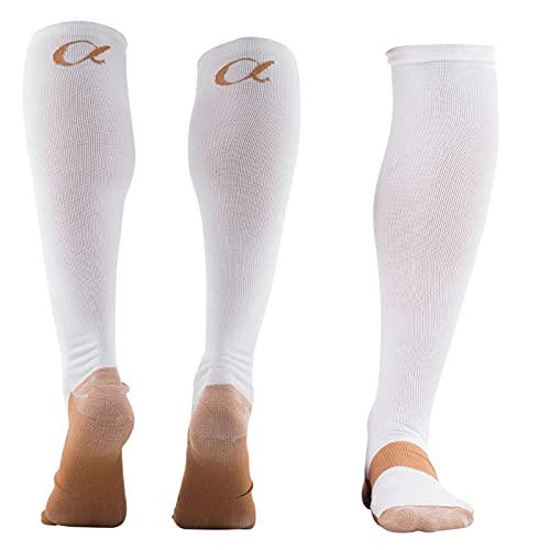 Copper Compression Socks Easy To Wear for Men and Women for Circulation M