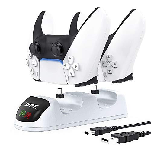 Cargador Mando ps5 con Indicadores LED y Cable USB-C, Puerto de Carga...