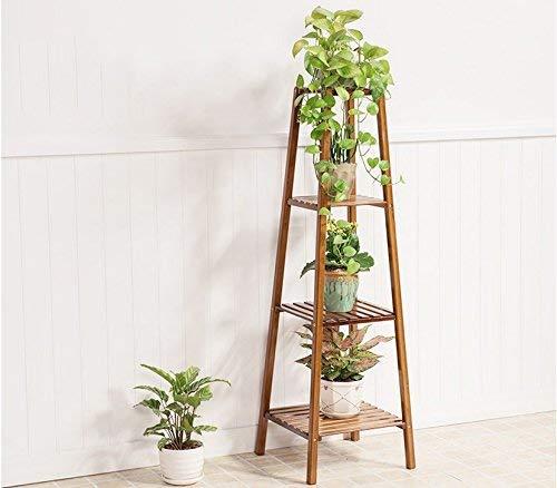GWFVA Afwerkingspot voor bloempotten. Deur - Hout Bloemen voor Massief Hout Deur Woonkamer - Huis Bloemen Multi-Level Frame Massief Hout Bloemen Frame Balkon Potty Plant (Size L)
