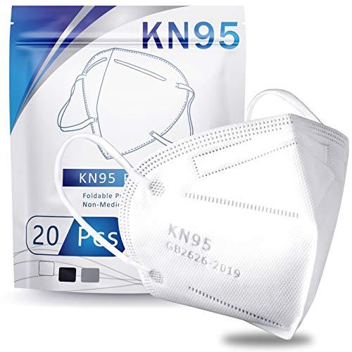 Hotodeal KN95 Mask Safety Mask Breathable Mask (20 pcs)