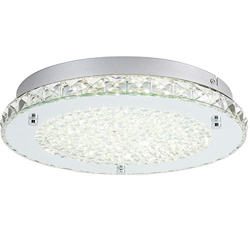 LED Ceiling Light,Auffel Minimalist Modern 11-Inch Surface Flush Mount Light Fixture Glass...