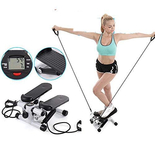 Cardio Fitness Step Air Stair Climber Stepper Multifunctionele loopband Stil Afvallen Indoor Oefenmachine,Black