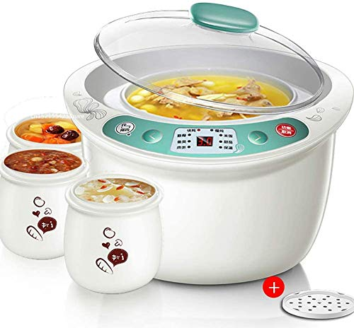 Smart Terminzeit Slow Cooker mit 4 Mini-Topf Tragbare Multicooker Fry, Eintopf, Suppe, Steame, Boil