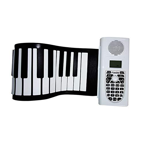 Find Discount LVSSY-Hand Roll Piano Beginner Portable Folding Keyboard Upgrade Version Flexible Eele...