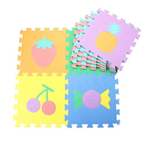Chnrong Baby Puzzle Mat Soft EVA Foam Kids Play Carpet Home Floor Mats Gym Rubber Cushion antideslizante Home Mats Playmats Gym Enclavamiento Azulejos plegables Zona de juegos Pisos de espuma Mat