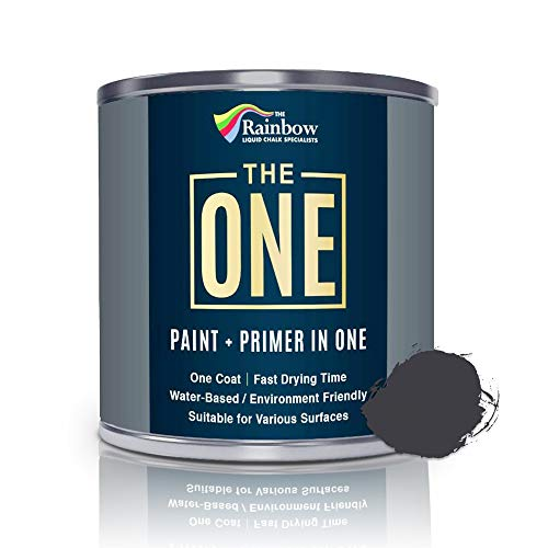 The One Paint Matte 250ml - Multi Surface Paint - No Undercoat or Primers required (Charcoal)