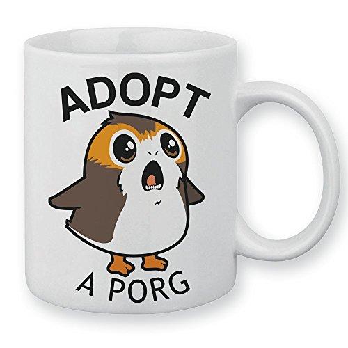 Chamalow Shop Tasse Adopt a Porg (Star Wars) Chibi und Kawaii