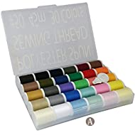 LEONIS 30 Color Set of Handy Polyester Sewing Threads 50 Yards/45 m Each[ 93011 ]