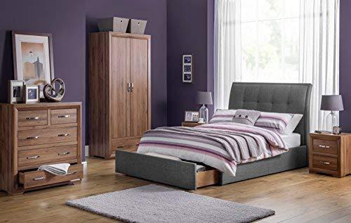 Julian Bowen Buckingham nachtkastje, 2 laden, hout, bruin, 47 x 41 x 54,5 cm