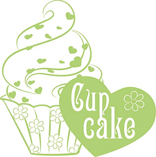 GRAZDesign muurtattoo keuken cupcake - keukendecoratie decoratiefolie hart 57x57cm 822 waterlilly.