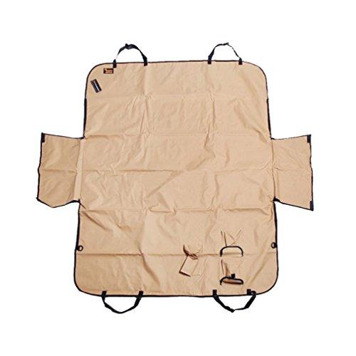Ondoing Hunde Autoschondecke mit Seitenschutz Kofferraumdecke Auto Schutzdecke Wasserdicht Rücksitzdecke Dauerhaft Hundedecke 150 * 130 * 30cm Beige