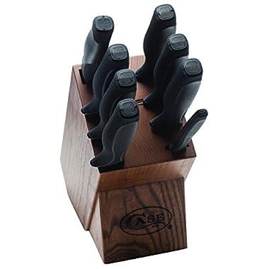 Case Black 9-Piece Household Cutlery Block Set