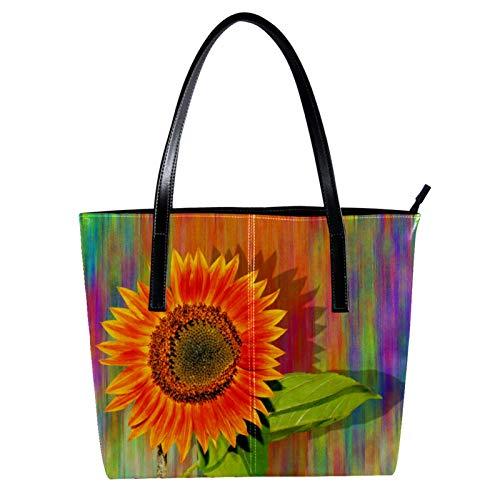 Bolsos para mujeres y niñas grandes bolso de hombro bolsas de trabajo bagsstorage baggirasol flor tela colorida