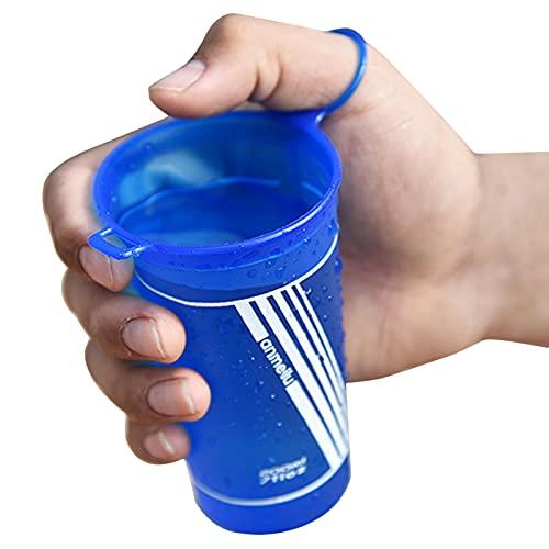 Rubeyul Botella de agua plegable de poliuretano termoplástico, taza flexible, 200 ml, botella de agua portátil, botella de deporte para bicicleta, senderismo, correr, trekking, camping y escalada