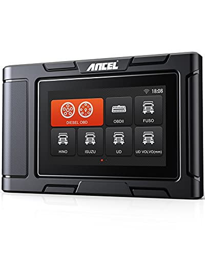 ANCEL HD3200 All-System Heavy Duty Truck Scan Tool with DPF Regeneration, Oil Reset and Check Vehicle Engine Diagnostic OBD2 Scanner, Truck & Car 2 in 1 Code Reader