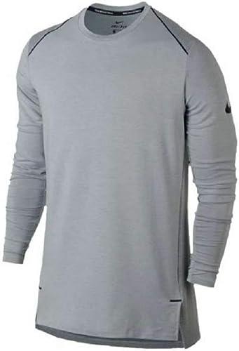 Nike AQ4161-065 Hyperlumière Dry L S Maillot de Basketball pour Homme gris Noir