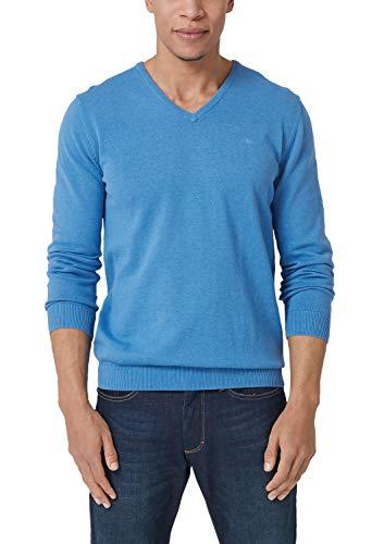 s.Oliver Herren 03.899.61.4543 Pullover, Blau (Blue Melange 55w9), Small