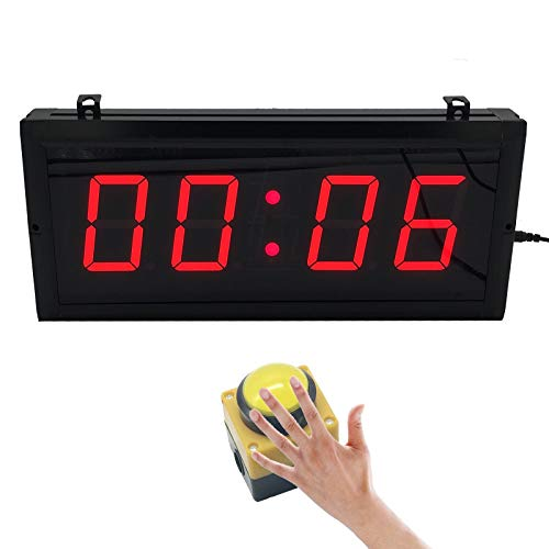 BTBSIGN 3'' Countdown Timer with Wired Button Wireless Remote Drone Racing