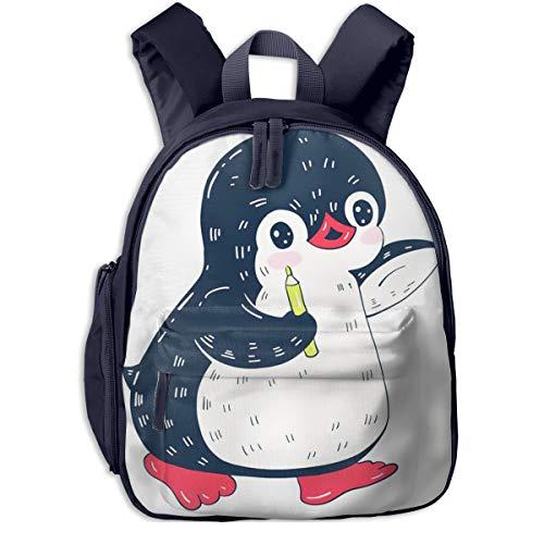 Kinderrucksack Kleinkind Jungen Mädchen Kindergartentasche Pinguin Bleistift Backpack Schultasche Rucksack