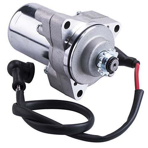 CNCMOTOK 3 bolt Starter Motor WIth Line For 50cc 70 cc 90cc 100cc 110cc 125cc 4 Stroke Quad Wheelers ATVs Taotao SSR Roketa Go Karts Pit Bike Jonway SunL Dune Buggy Sandrail Coolster