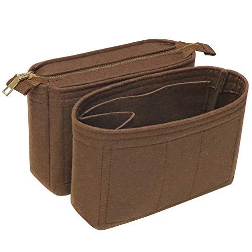 Soyizom Filztasche Organize Insert Bag in Tasche für Einkaufstasche Mit 2 Packungen Fit in Neonoe und andere Bucket Bags-Kaffee