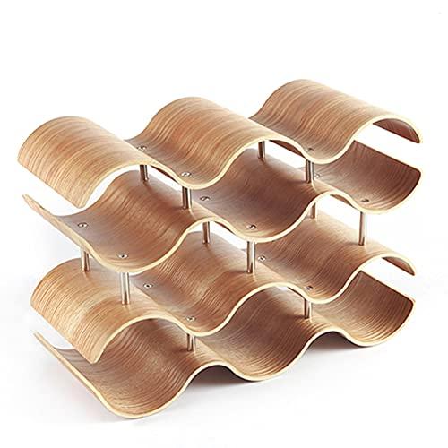 Daem Botellero para 10 botellas, de madera de lujo, de bambú, moderno