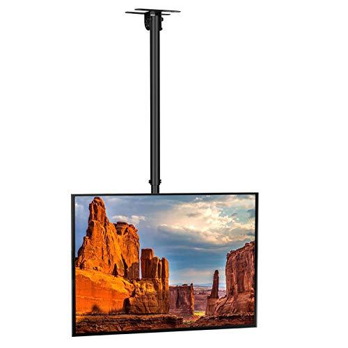 SIMBR Soporte TV de Techo con Altura Ajustable Soporte para Televisión con Pantalla LED/LCD/Plasma de 22-55 Carga Máxima 50kg VESA Máxima 400×400 Inclinable y Giratorio