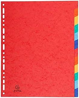 Intercalaires A4+ carton 6 ou 12 touches 6 touches A4+ Extra fort