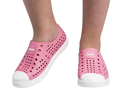 Cressi uniseks dziecko pulpy buty silikonowe do pływania woda buty plażowe dla dorosłych i dzieci - różowe/białe, 23 EU (6 UK)