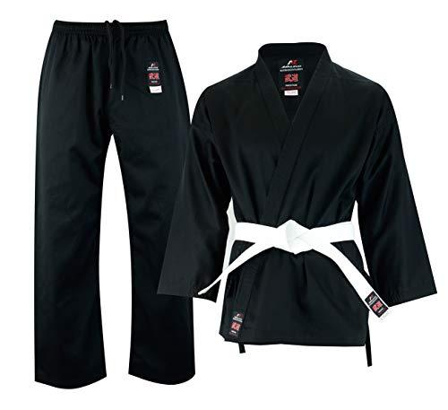 Malino Student Karate Gi, Tuta da Arte Marziale per Bambini Uniforme, PC 198,4 g, (0000/100, Nero)