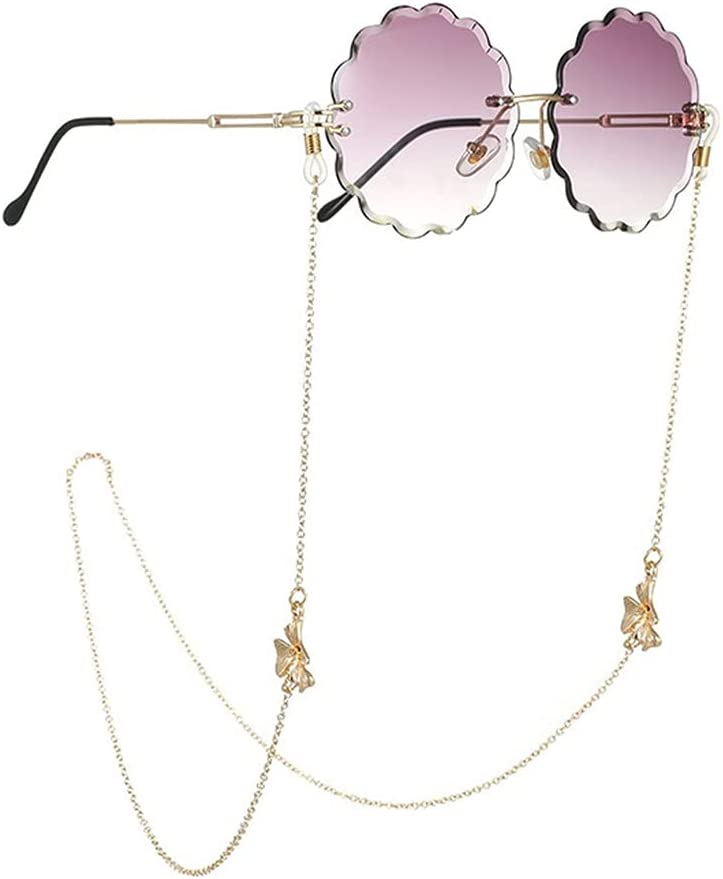 YFQHDD Multilayer Pendant Sunglasses Chain Neck Lanyard Strap Cords Casual Reading Glasses Body Women Accessories (Color : A, Size : Length-70CM)