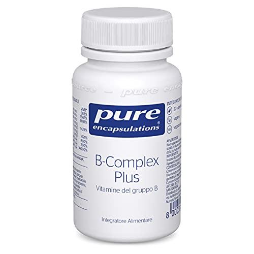 Pure Encapsulations - B-Complex Plus - Formula di Vitamine del Gruppo B Bilanciata con Acido Folico Attivo - 30 capsule