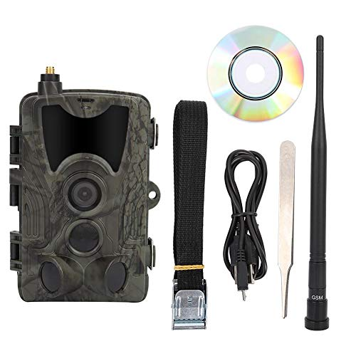 Wildkamera Fotofalle mit Bewegungsmelder 1080P Full HD 16MP 2G Nachtsicht Jagdkamera 120° Weitwinkel Infrarot 20m Überwachungskamera Wasserdichtes IP65 Hinterkamera Batteriebetrieben Videokamera