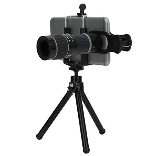 Telescopio, con trípode de Escritorio Telescopio monocular, con Clip para teléfono Mini telescopio portátil de visión Nocturna 18X para Caza y observación de Aves