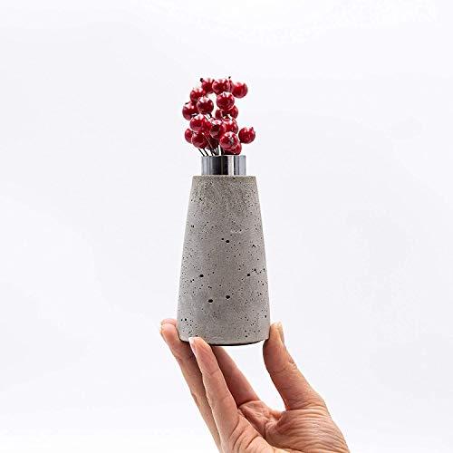 minim. Vase, Beton, Design, Blumenvase, Pampasgras, Handmade