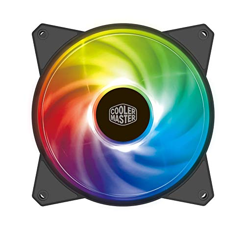 Cooler Master MasterFan MF120R ARGB 120mm Fan with Independently-Controlled ARGB LEDS, Absorbing Rubber Pads, PWM Control for Computer Case, CPU Liquid & Air Cooler
