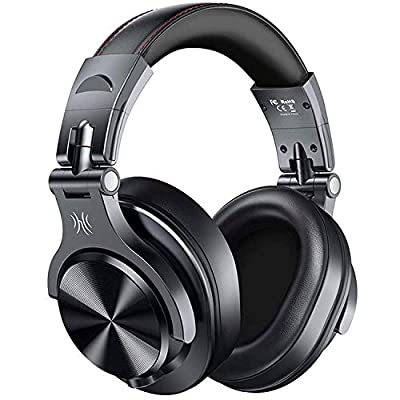 OneOdio A70 Bluetooth Headphones Over Ear, 50 Hrs Playtime, Stereo Wireless&Wired Headset with CVC6.0 Mic, Professional Studio Monitor Mixing Headphones for TV/PC/Phone by Oneodio