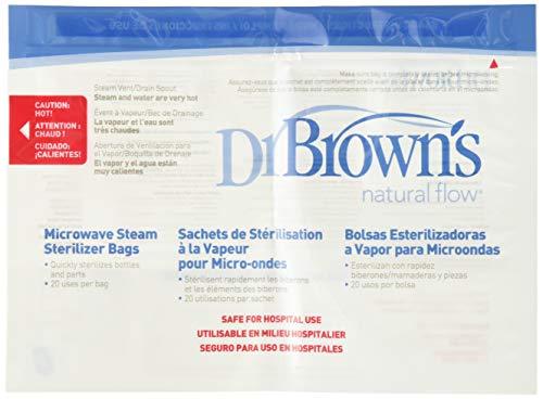 Dr. Brown s 157077.2 - Bolsas para esterilización en microondas, 5 unidades