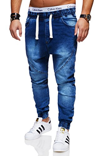 behype. Herren Destroyed Jogg-Jeans Hose 80-2089 Dunkelblau 36